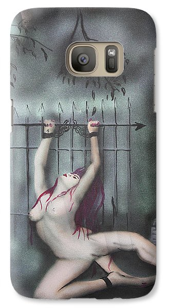 Galaxy Case featuring the painting Fantasy4 by Tbone Oliver