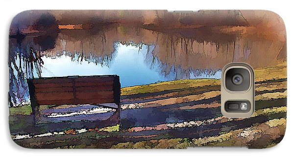 Galaxy Case featuring the photograph Farewell Fishing by Betsy Zimmerli