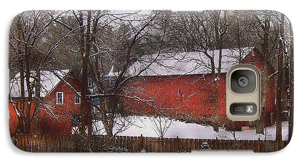 Farm - Barn - Winter In The Country  Galaxy S7 Case