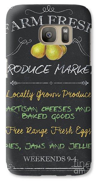 Chicken Galaxy S7 Case - Farm Fresh Produce by Debbie DeWitt