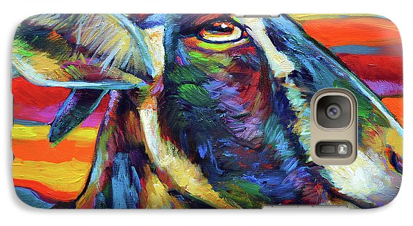 Galaxy Case featuring the painting Farm Goat by Robert Phelps