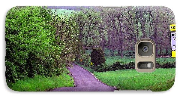 Galaxy Case featuring the photograph Farm Road by Susan Carella