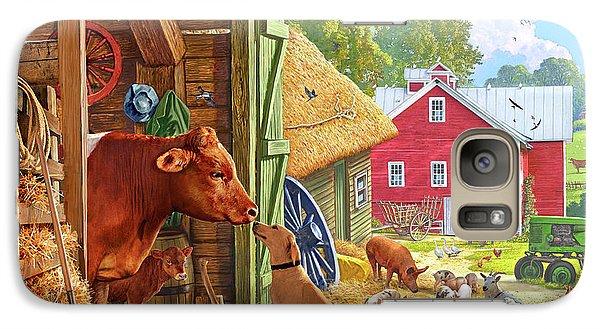 Swallow Galaxy S7 Case - Farm Scene In America by Steve Crisp