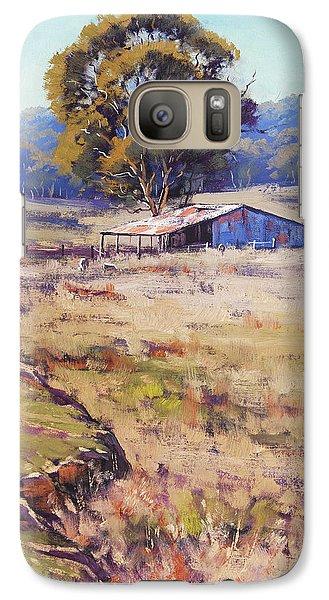 Rural Scenes Galaxy S7 Case - Farm Shed Pyramul by Graham Gercken