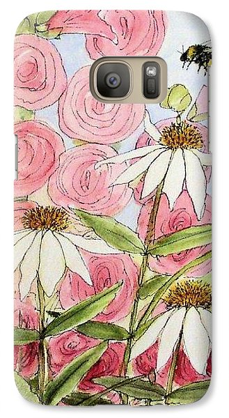 Galaxy Case featuring the painting Farmhouse Garden by Laurie Rohner