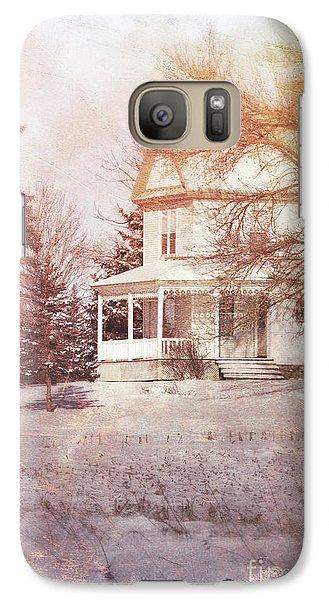 Galaxy Case featuring the photograph Farmhouse In Snow by Jill Battaglia