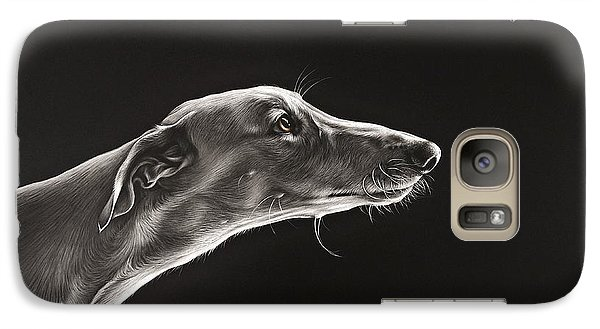Galaxy Case featuring the drawing Fascination by Elena Kolotusha