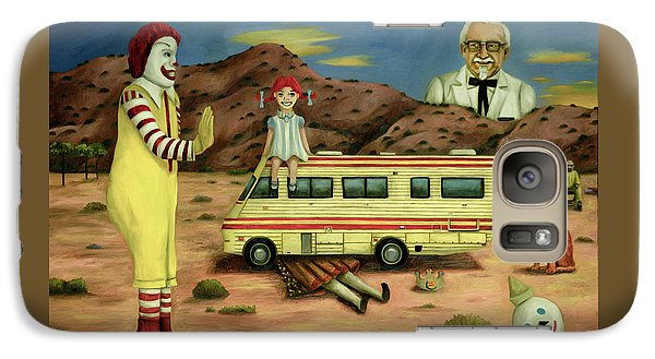 Galaxy Case featuring the painting Fast Food Nightmare 5 The Mirage by Leah Saulnier The Painting Maniac