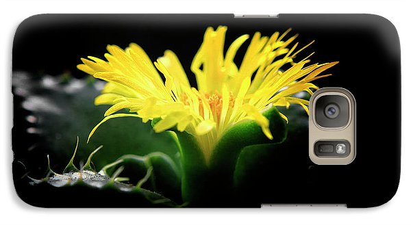 Galaxy Case featuring the photograph Faucaria Tigerina Tiger's Jaw by Charline Xia