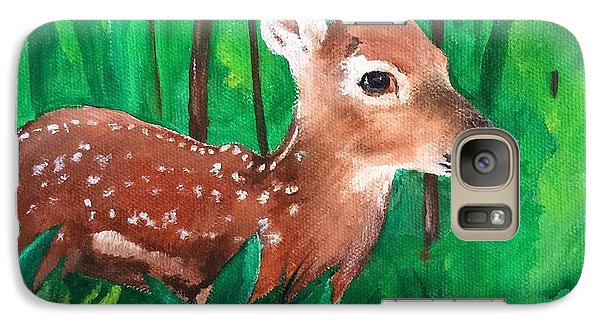 Galaxy Case featuring the painting Fawn by Ellen Canfield