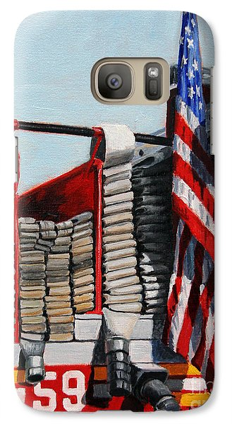 Harlem Galaxy S7 Case - Fdny Engine 59 American Flag by Paul Walsh