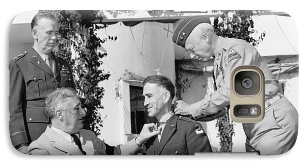 Galaxy Case featuring the photograph Fdr Presenting Medal Of Honor To William Wilbur by War Is Hell Store