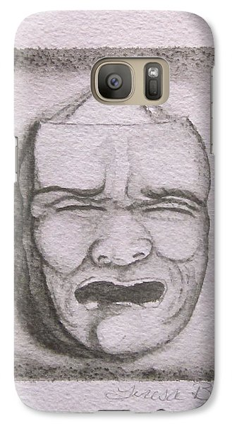 Galaxy Case featuring the painting Fear by Teresa Beyer