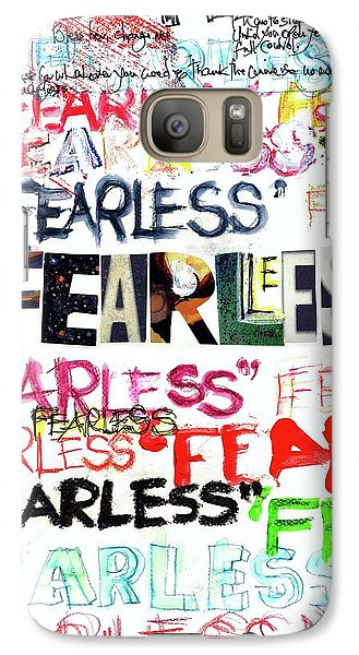 Galaxy Case featuring the mixed media Fearless by Carolyn Weltman