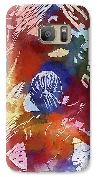 Galaxy Case featuring the mixed media Fearless Girl Wall Street by Dan Sproul