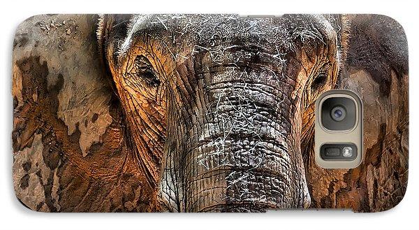 Elephant Galaxy S7 Case - Fearless by Janet Fikar