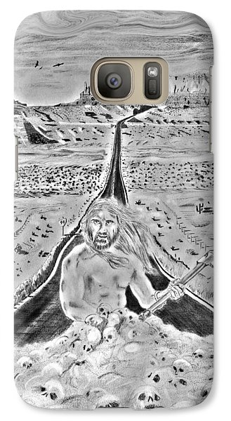 Galaxy Case featuring the drawing Fearless by Yngve Alexandersson