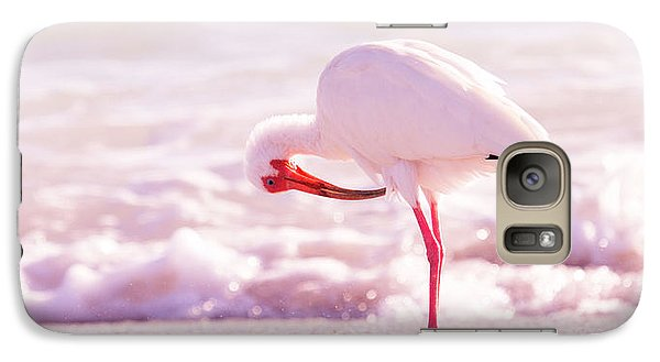 Ibis Galaxy S7 Case - Feather Out Of Place by Betsy Knapp