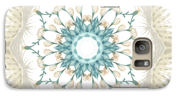 Galaxy Case featuring the digital art Feathers And Catkins Kaleidoscope Design by Mary Machare