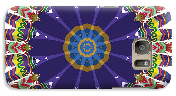 Galaxy Case featuring the digital art Feathers In The Round by Mary Machare