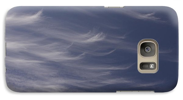 Galaxy Case featuring the photograph Feathery Sky by Shari Jardina