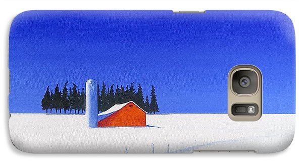 Galaxy Case featuring the painting February Fields by Jo Appleby