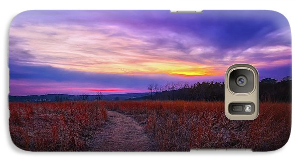 Galaxy Case featuring the photograph February Sunset And Path At Retzer Nature Center by Jennifer Rondinelli Reilly - Fine Art Photography