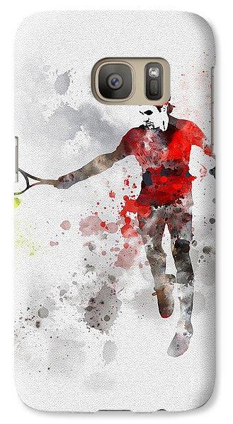 Federer Galaxy S7 Case by Rebecca Jenkins