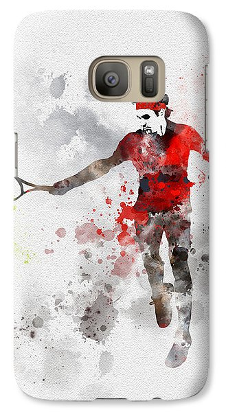 Federer Galaxy Case by Rebecca Jenkins