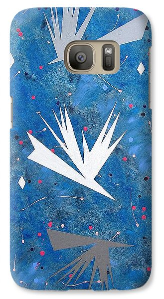 Galaxy Case featuring the painting Feeding Frenzy by J R Seymour