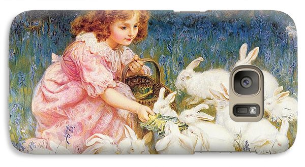 Feeding The Rabbits Galaxy S7 Case by Frederick Morgan