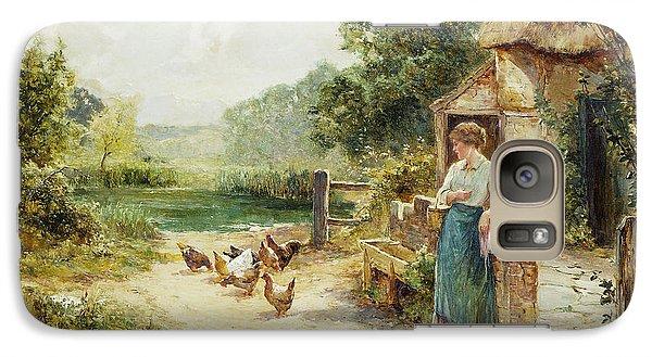 Feeding Time Galaxy Case by Ernest Walbourn