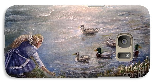 Galaxy Case featuring the painting Feeding Time by Patricia Schneider Mitchell