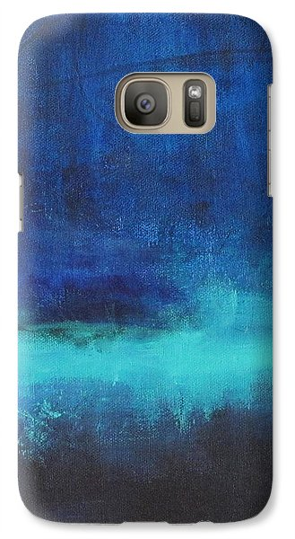 Galaxy Case featuring the painting Feeling Blue by Nicole Nadeau