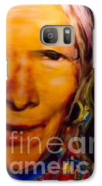 Galaxy Case featuring the painting Feeling Light Within We Walk by FeatherStone Studio Julie A Miller