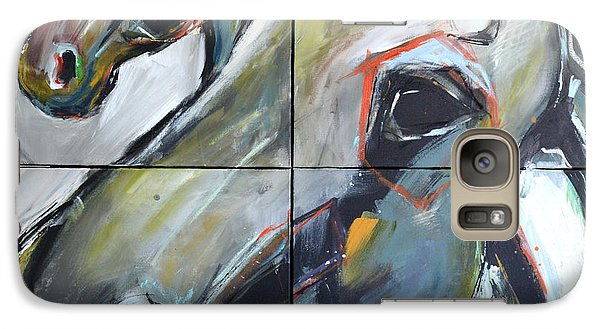 Galaxy Case featuring the painting Feeling Thunder by Cher Devereaux