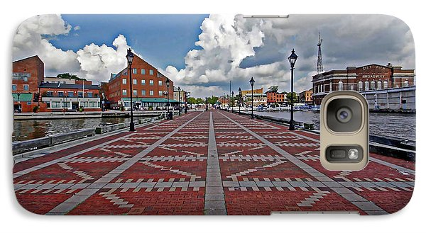Galaxy Case featuring the photograph Fells Point Pier by Suzanne Stout