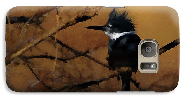 Galaxy Case featuring the digital art Female Belted Kingfisher 2 by Ernie Echols