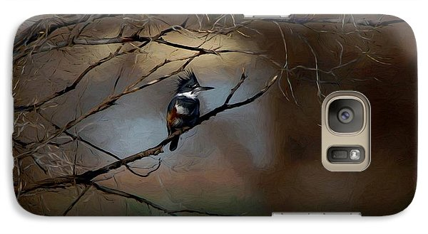 Galaxy Case featuring the digital art Female Belted Kingfisher 3 by Ernie Echols