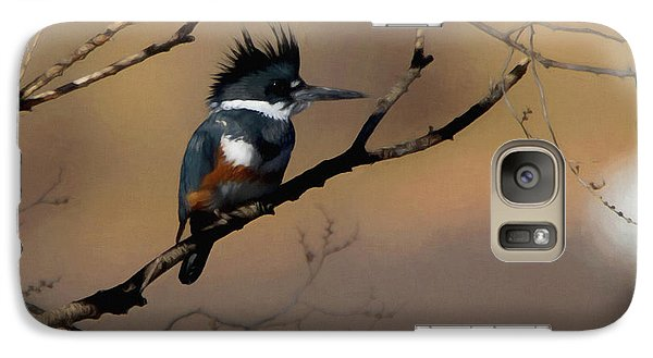 Galaxy Case featuring the digital art Female Belted Kingfisher by Ernie Echols