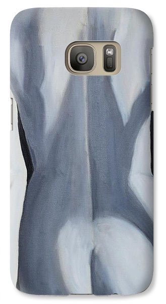 Galaxy Case featuring the painting female Black and White by Lori Jacobus-Crawford
