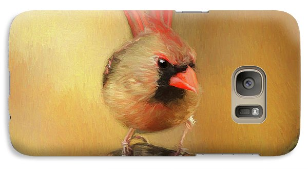 Galaxy Case featuring the photograph Female Cardinal Excited For Spring by Darren Fisher