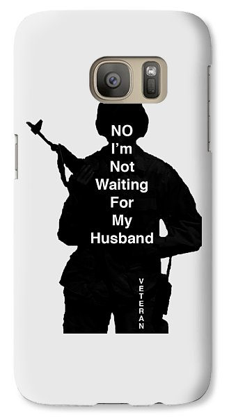 Galaxy Case featuring the photograph Female Veteran by Melany Sarafis