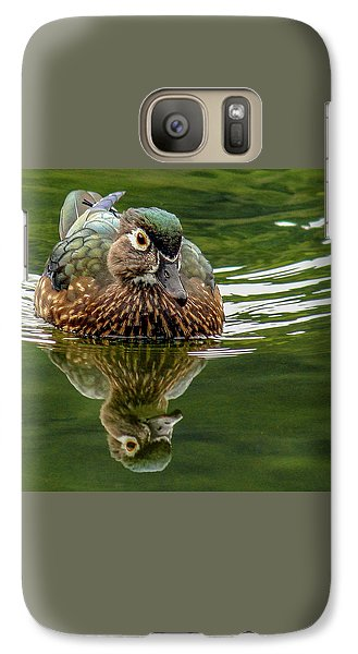 Galaxy Case featuring the photograph Female Wood Duck by Jean Noren