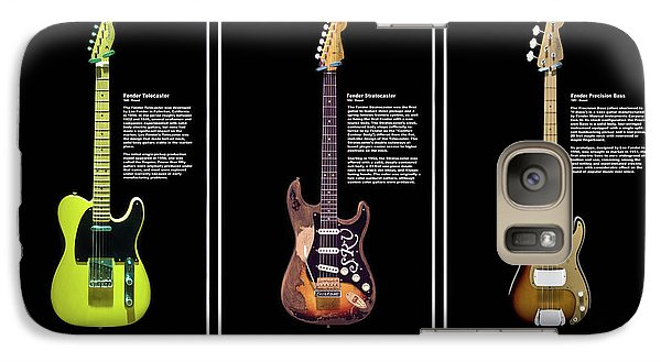 Galaxy Case featuring the photograph Fender Triple Threat by Peter Chilelli