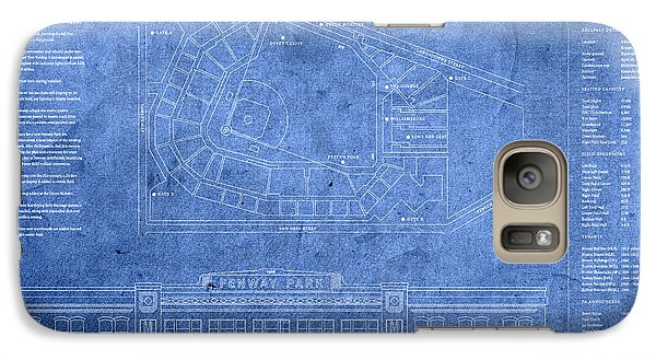 Fenway Park Blueprints Home Of Baseball Team Boston Red Sox On Worn Parchment Galaxy S7 Case