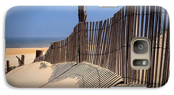 Fenwick Dune Fence And Shadows Galaxy S7 Case