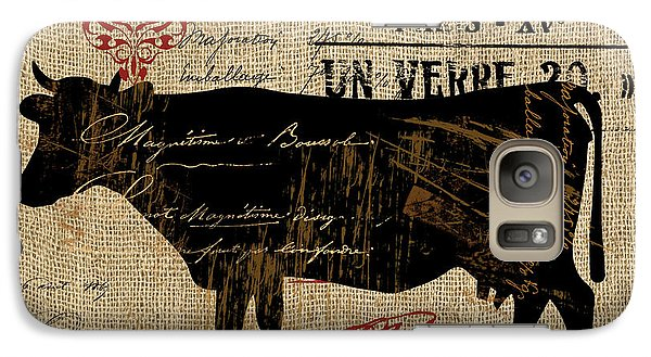 Cow Galaxy S7 Case - Ferme Farm Cow by Mindy Sommers