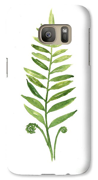 Fern Leaf Watercolor Painting Galaxy S7 Case