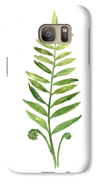 Garden Galaxy S7 Case - Fern Leaf Watercolor Painting by Joanna Szmerdt